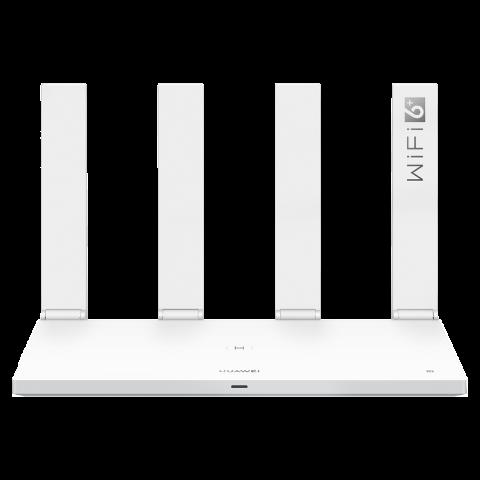 华为路由AX3 Pro Wi-Fi 6+ 3000Mbps无线连接 一碰连网 多穿一堵墙 上网保护 白色